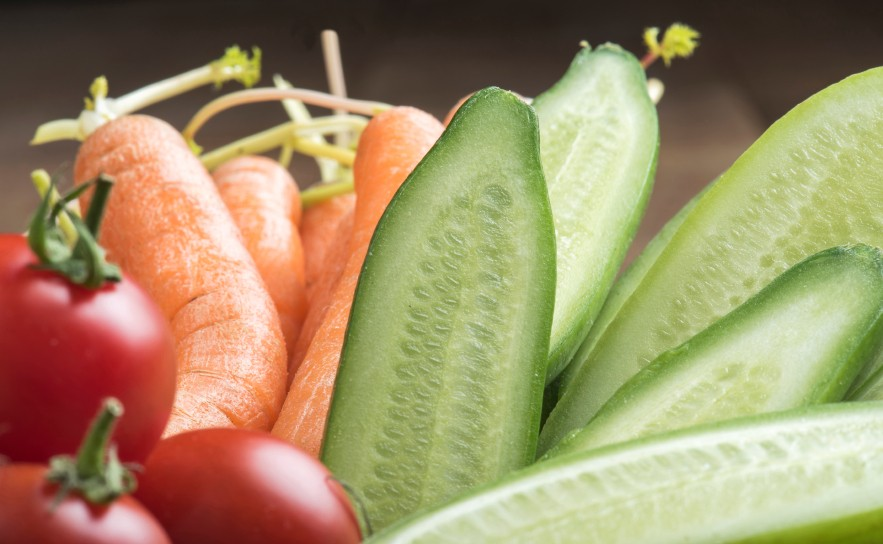 Close-up of vegetables.