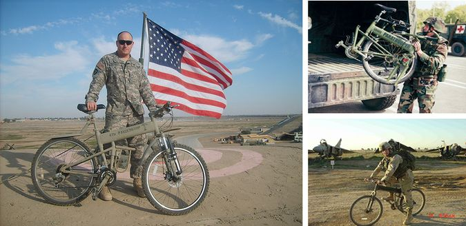 American Tactical Paratrooper Folding Bicycle For Soldiers By Montague