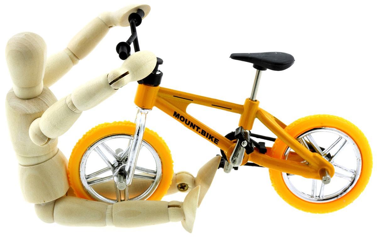 """vlo de descente, """"mountain bike"""", pantin bois, fond blanc"""