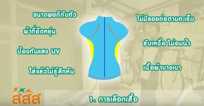 การเลือกเสื้อจักรยาน