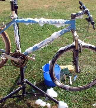 ทำความสะอาดจักรยาน